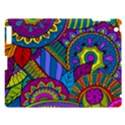 Pop Art Paisley Flowers Ornaments Multicolored Apple iPad 3/4 Hardshell Case View1