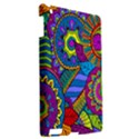Pop Art Paisley Flowers Ornaments Multicolored Apple iPad 3/4 Hardshell Case View2