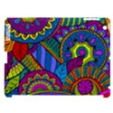 Pop Art Paisley Flowers Ornaments Multicolored Apple iPad 3/4 Hardshell Case (Compatible with Smart Cover) View1