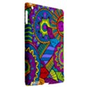Pop Art Paisley Flowers Ornaments Multicolored Apple iPad 3/4 Hardshell Case (Compatible with Smart Cover) View2