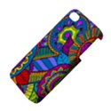 Pop Art Paisley Flowers Ornaments Multicolored Apple iPhone 4/4S Premium Hardshell Case View4
