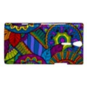 Pop Art Paisley Flowers Ornaments Multicolored Sony Xperia S View1