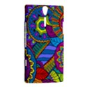 Pop Art Paisley Flowers Ornaments Multicolored Sony Xperia S View2