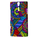 Pop Art Paisley Flowers Ornaments Multicolored Sony Xperia S View3
