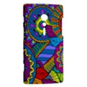 Pop Art Paisley Flowers Ornaments Multicolored Sony Xperia ion View2
