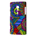 Pop Art Paisley Flowers Ornaments Multicolored Sony Xperia ion View3