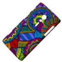 Pop Art Paisley Flowers Ornaments Multicolored Sony Xperia ion View4