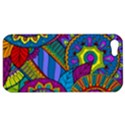 Pop Art Paisley Flowers Ornaments Multicolored Apple iPhone 5 Hardshell Case View1