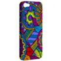 Pop Art Paisley Flowers Ornaments Multicolored Apple iPhone 5 Hardshell Case View2