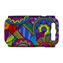 Pop Art Paisley Flowers Ornaments Multicolored Samsung Galaxy S III Hardshell Case (PC+Silicone) View1