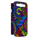 Pop Art Paisley Flowers Ornaments Multicolored Samsung Galaxy S III Hardshell Case (PC+Silicone) View2