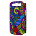 Pop Art Paisley Flowers Ornaments Multicolored Samsung Galaxy S III Hardshell Case (PC+Silicone) View3