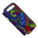 Pop Art Paisley Flowers Ornaments Multicolored Samsung Galaxy S III Hardshell Case (PC+Silicone) View5