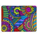 Pop Art Paisley Flowers Ornaments Multicolored Kindle Fire (1st Gen) Flip Case View1