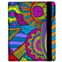 Pop Art Paisley Flowers Ornaments Multicolored Kindle Fire (1st Gen) Flip Case View2