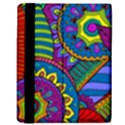 Pop Art Paisley Flowers Ornaments Multicolored Kindle Fire (1st Gen) Flip Case View3