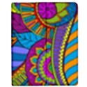 Pop Art Paisley Flowers Ornaments Multicolored Apple iPad 3/4 Flip Case View1