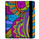 Pop Art Paisley Flowers Ornaments Multicolored Apple iPad 3/4 Flip Case View2