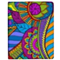 Pop Art Paisley Flowers Ornaments Multicolored Apple iPad Mini Flip Case View1