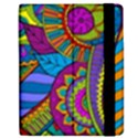 Pop Art Paisley Flowers Ornaments Multicolored Apple iPad Mini Flip Case View2