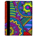 Pop Art Paisley Flowers Ornaments Multicolored Apple iPad Mini Flip Case View3