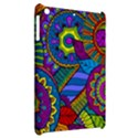 Pop Art Paisley Flowers Ornaments Multicolored Apple iPad Mini Hardshell Case View2