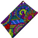 Pop Art Paisley Flowers Ornaments Multicolored Apple iPad Mini Hardshell Case View4