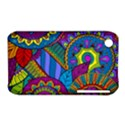 Pop Art Paisley Flowers Ornaments Multicolored Apple iPhone 3G/3GS Hardshell Case (PC+Silicone) View1