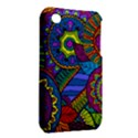 Pop Art Paisley Flowers Ornaments Multicolored Apple iPhone 3G/3GS Hardshell Case (PC+Silicone) View2
