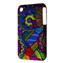 Pop Art Paisley Flowers Ornaments Multicolored Apple iPhone 3G/3GS Hardshell Case (PC+Silicone) View3