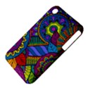 Pop Art Paisley Flowers Ornaments Multicolored Apple iPhone 3G/3GS Hardshell Case (PC+Silicone) View4