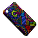 Pop Art Paisley Flowers Ornaments Multicolored Apple iPhone 3G/3GS Hardshell Case (PC+Silicone) View5
