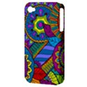 Pop Art Paisley Flowers Ornaments Multicolored Apple iPhone 4/4S Hardshell Case (PC+Silicone) View3