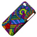 Pop Art Paisley Flowers Ornaments Multicolored Apple iPhone 4/4S Hardshell Case (PC+Silicone) View4