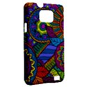 Pop Art Paisley Flowers Ornaments Multicolored Samsung Galaxy S II i9100 Hardshell Case (PC+Silicone) View2