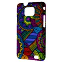 Pop Art Paisley Flowers Ornaments Multicolored Samsung Galaxy S II i9100 Hardshell Case (PC+Silicone) View3