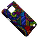 Pop Art Paisley Flowers Ornaments Multicolored Samsung Galaxy S II i9100 Hardshell Case (PC+Silicone) View5