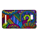 Pop Art Paisley Flowers Ornaments Multicolored HTC One SU T528W Hardshell Case View1
