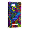 Pop Art Paisley Flowers Ornaments Multicolored HTC One SU T528W Hardshell Case View2