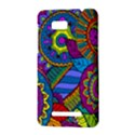 Pop Art Paisley Flowers Ornaments Multicolored HTC One SU T528W Hardshell Case View3