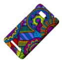 Pop Art Paisley Flowers Ornaments Multicolored HTC One SU T528W Hardshell Case View4