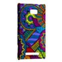 Pop Art Paisley Flowers Ornaments Multicolored HTC 8X View2