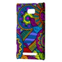Pop Art Paisley Flowers Ornaments Multicolored HTC 8X View3
