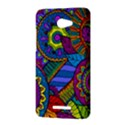 Pop Art Paisley Flowers Ornaments Multicolored HTC Butterfly X920E Hardshell Case View3