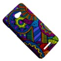 Pop Art Paisley Flowers Ornaments Multicolored HTC Butterfly X920E Hardshell Case View5