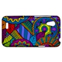 Pop Art Paisley Flowers Ornaments Multicolored HTC Desire VT (T328T) Hardshell Case View1