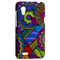 Pop Art Paisley Flowers Ornaments Multicolored HTC Desire VT (T328T) Hardshell Case View2