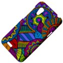 Pop Art Paisley Flowers Ornaments Multicolored HTC Desire VT (T328T) Hardshell Case View4