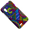 Pop Art Paisley Flowers Ornaments Multicolored HTC Desire VT (T328T) Hardshell Case View5