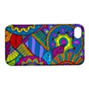 Pop Art Paisley Flowers Ornaments Multicolored Apple iPhone 4/4S Hardshell Case with Stand View1